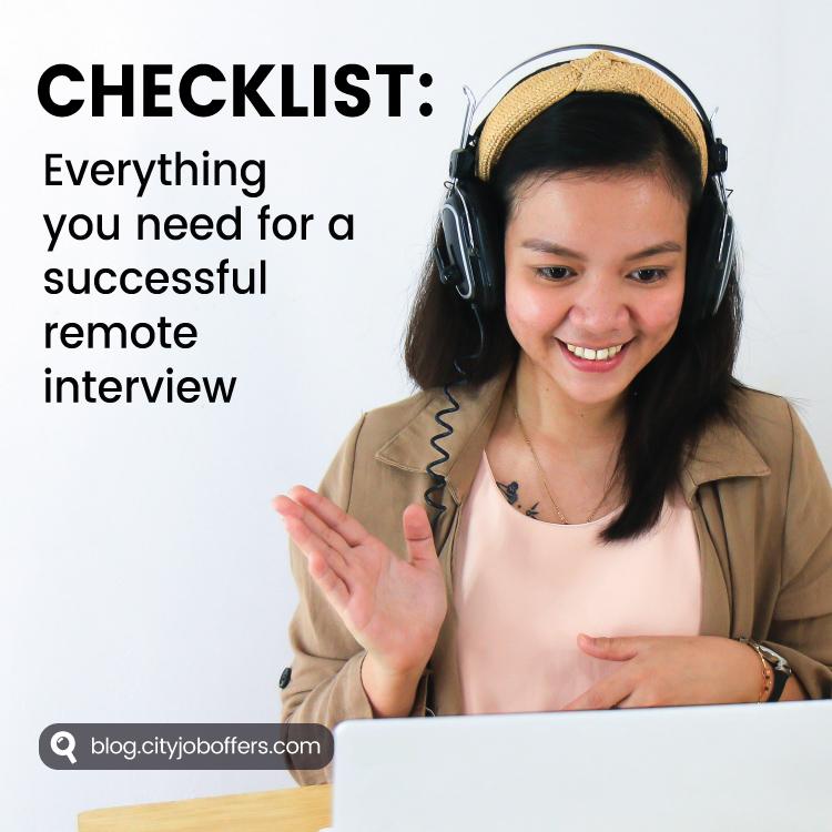 Checklist: remote interview