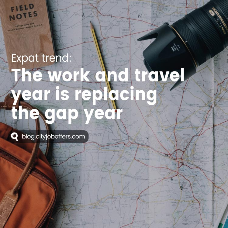 The work and travel year is replacing the gap year